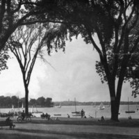 Wakefield Common and Lake Quannapowitt, circa mid-1940s
