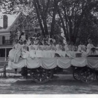 Wakefield High School co-eds, Church Street, May 28, 1894