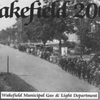 Wakefield High School students, Main Street near the Rockery, June 4, 1923