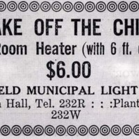 Wakefield Municipal Light Plant, 1919
