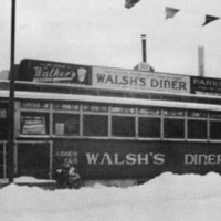 Walsh's Diner, winter, 1936