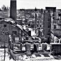 Robie Industrial fire aftermath, February 1972