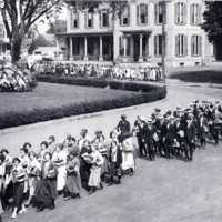 Wakefield High School Students, Common Street at Lafayette Street, 1923