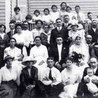 Dulong wedding party, August 1917