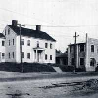 Abraham Sweetser House & Joseph Hughes Garage, Corner of Armory and Main Streets, circa 1920