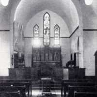 Interior of the Emmanuel Episcopal Church, Water Street circa 1890s