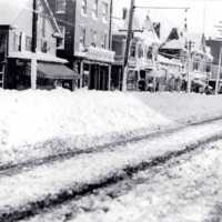 Winter on Main Street circa 1900s