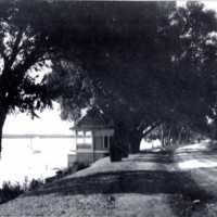 Wright's Boathouse, Lake Quannapowitt, circa 1893