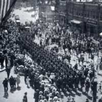 Company A leaving for Fort Devens, August 26, 1917