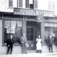 Richard Britton Boots, Shoes and Rubbers: 189 Main Street, circa 1880s