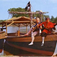 Exciting pirate ride at Pleasure Island