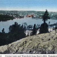 Crystal Lake and Wakefield from Hart's Hill, Wakefield, Mass.
