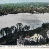 North End of Crystal Lake from Hart's Hill Tower, Wakefield, Mass.