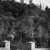 Entrance to Hart's Hill observatory, Wakefield, Mass.