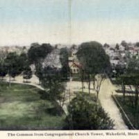 The Common from Congregational Church tower, Wakefield, Mass.