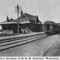 Western division of B & M. Railroad, Wakefield, Mass.