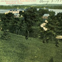 View of Lake Quannapowitt from West's Hill, Wakefield, Mass.