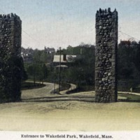 Entrance to Wakefield Park, Wakefield, Mass.
