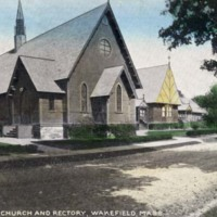Episcopal church and rectory, Wakefield, Mass.