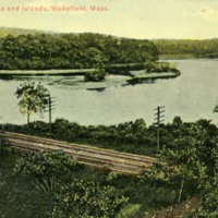 Crystal Lake and islands, Wakefield, Mass.