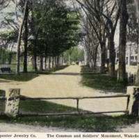 The Common and Soldiers' Monument, Wakefield, Mass.