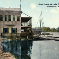 Boat house at Lake Quannapowitt, Wakefield, Mass.
