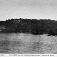 Hart's Hill and the islands Crystal Lake, Wakefield, Mass.