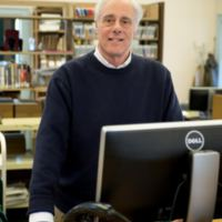 Pete Solomon, at the Library