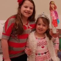 Shayna and Abbie at Temple Tifereth Israel Religious School