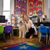 Richelle Tacelli Flavin and dog Teddy