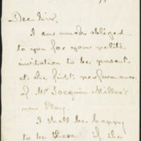 Thank you letter written by Henry  Wadsworth Longfellow, 1877