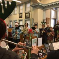 Winthrop Middle School holiday concert at the library