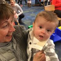 Gus and his grandmother Martha are new visitors to the library.
